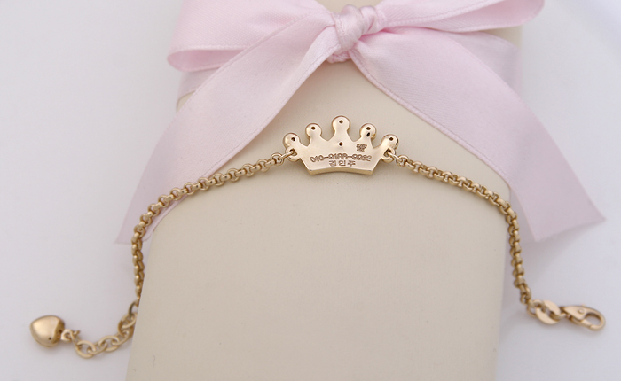 Gold Baby Bracelet Engraving Fonts